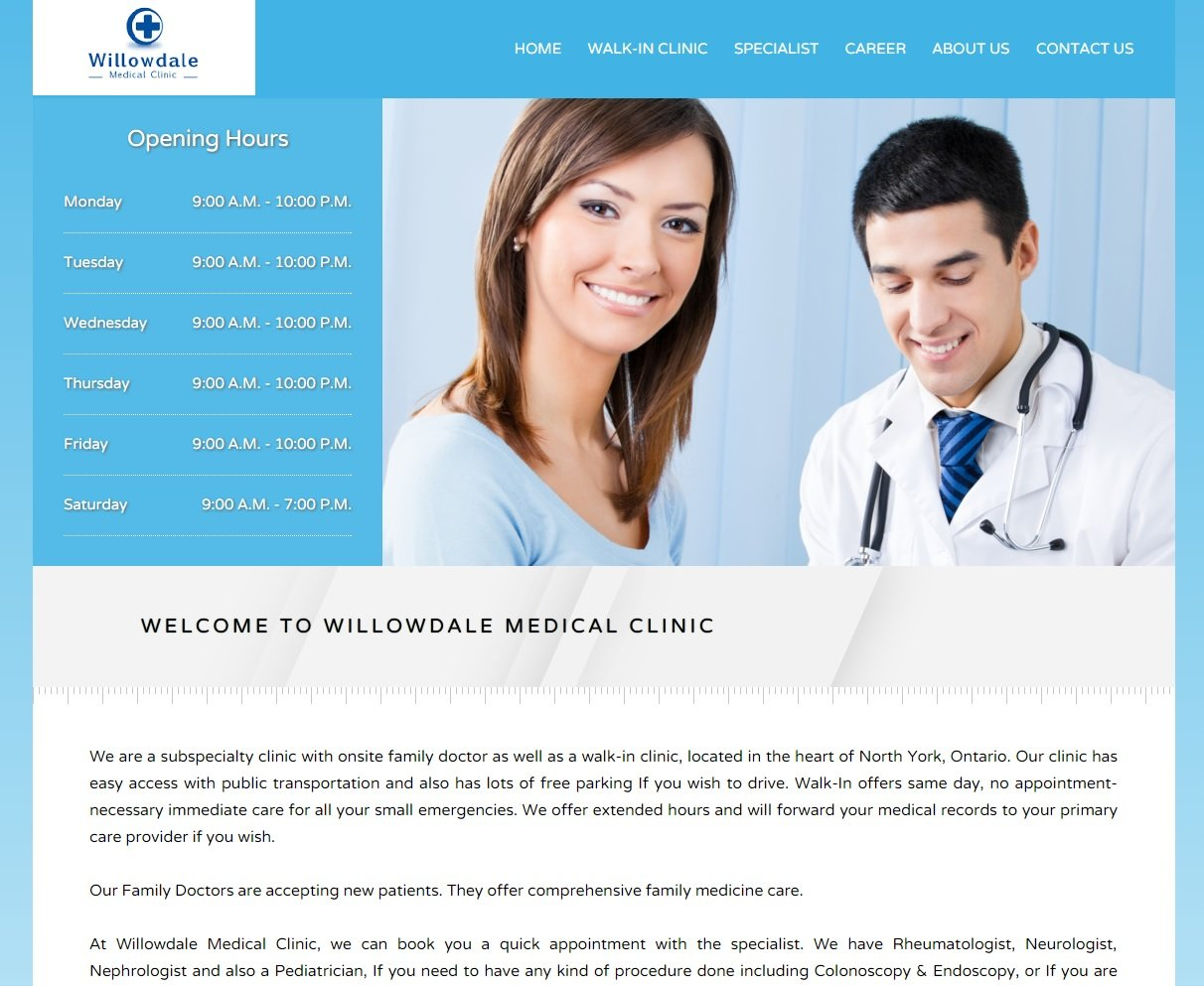Walking Clinic Website design