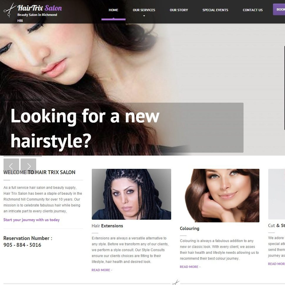 Hair Salon Webdesign Richmond-hill